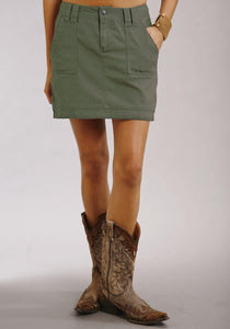 Stretch Twill Mid Thigh Skirt Stetson Ladies Collection- Summer I Women's Dresses and Skirts