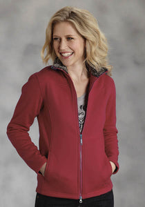 Stretch Fleece Vest With Faux Fur Lining Roper Outerwear- Ladies Women's Outerwear