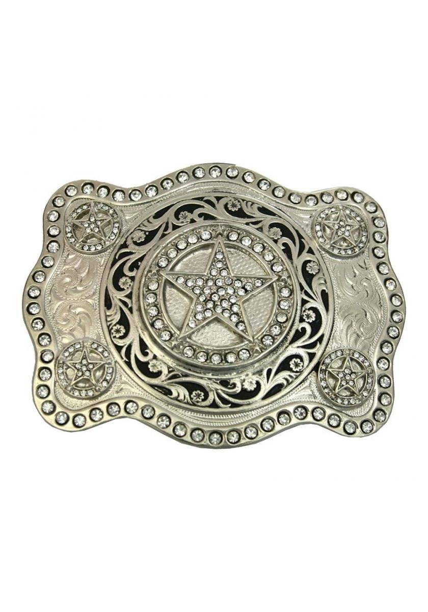 Cubic Zirconia Stars Attitude Belt Buckle Women's Accessories