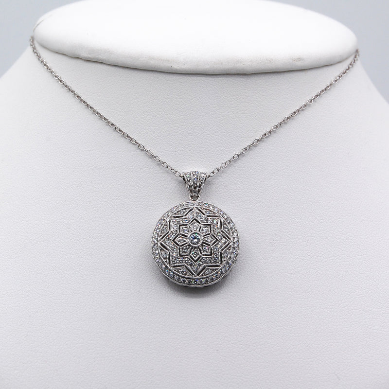 Embellished Circle Pendant