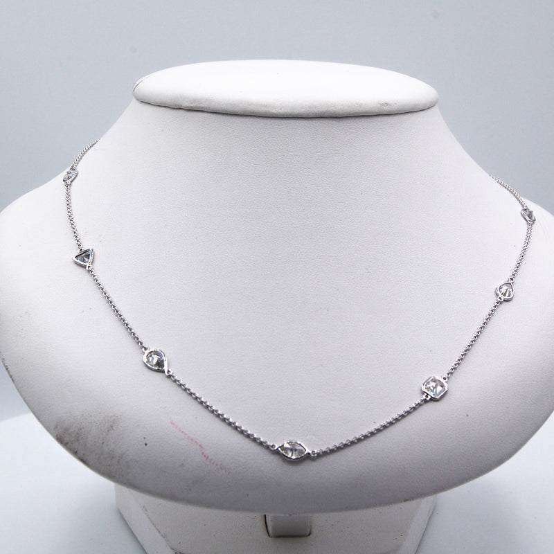 Fancy Shape Diamond by the Yard Neckalce