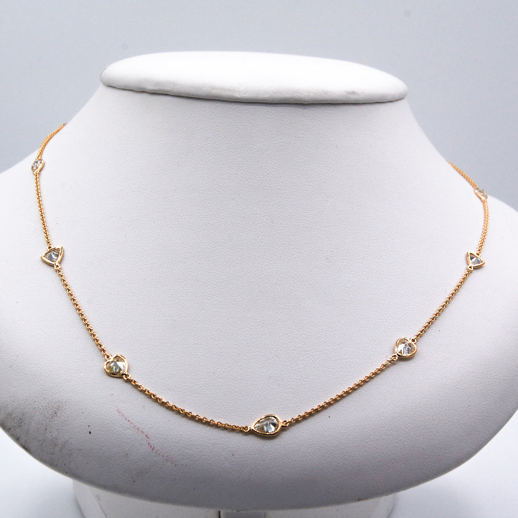 Fancy Shaped Diamond by the Yard Necklace