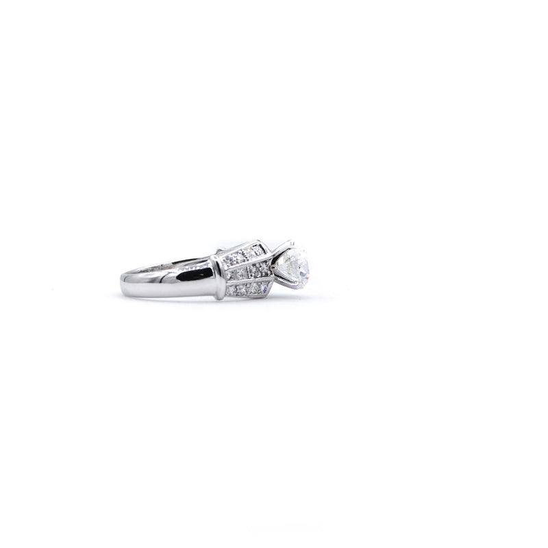 Channel Princess Cut Engagement Ring