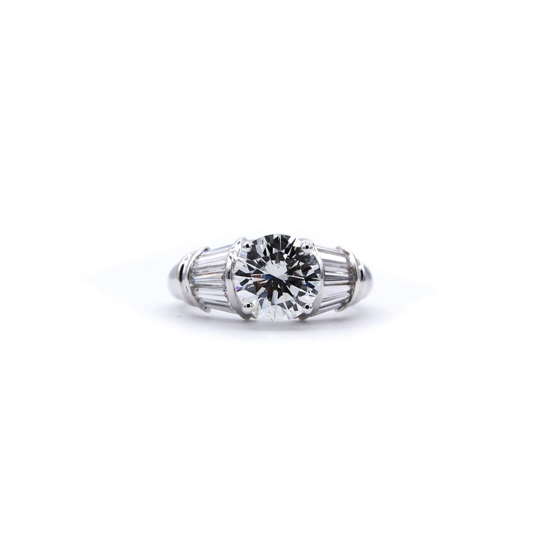 Channel Set Baguette Engagement Ring