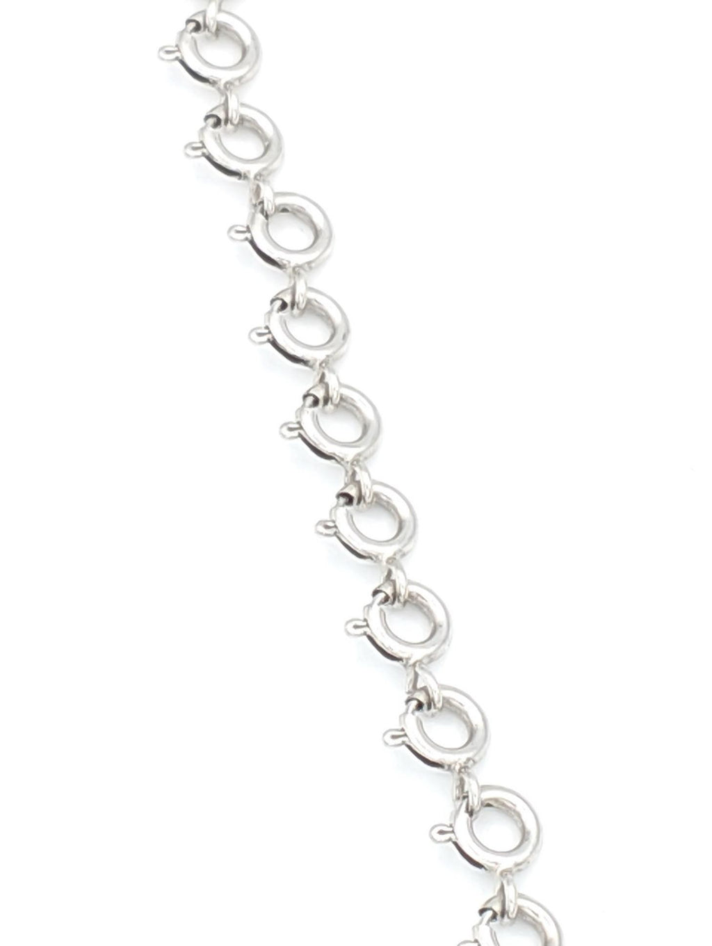 White Gold Spring Clasp Necklace