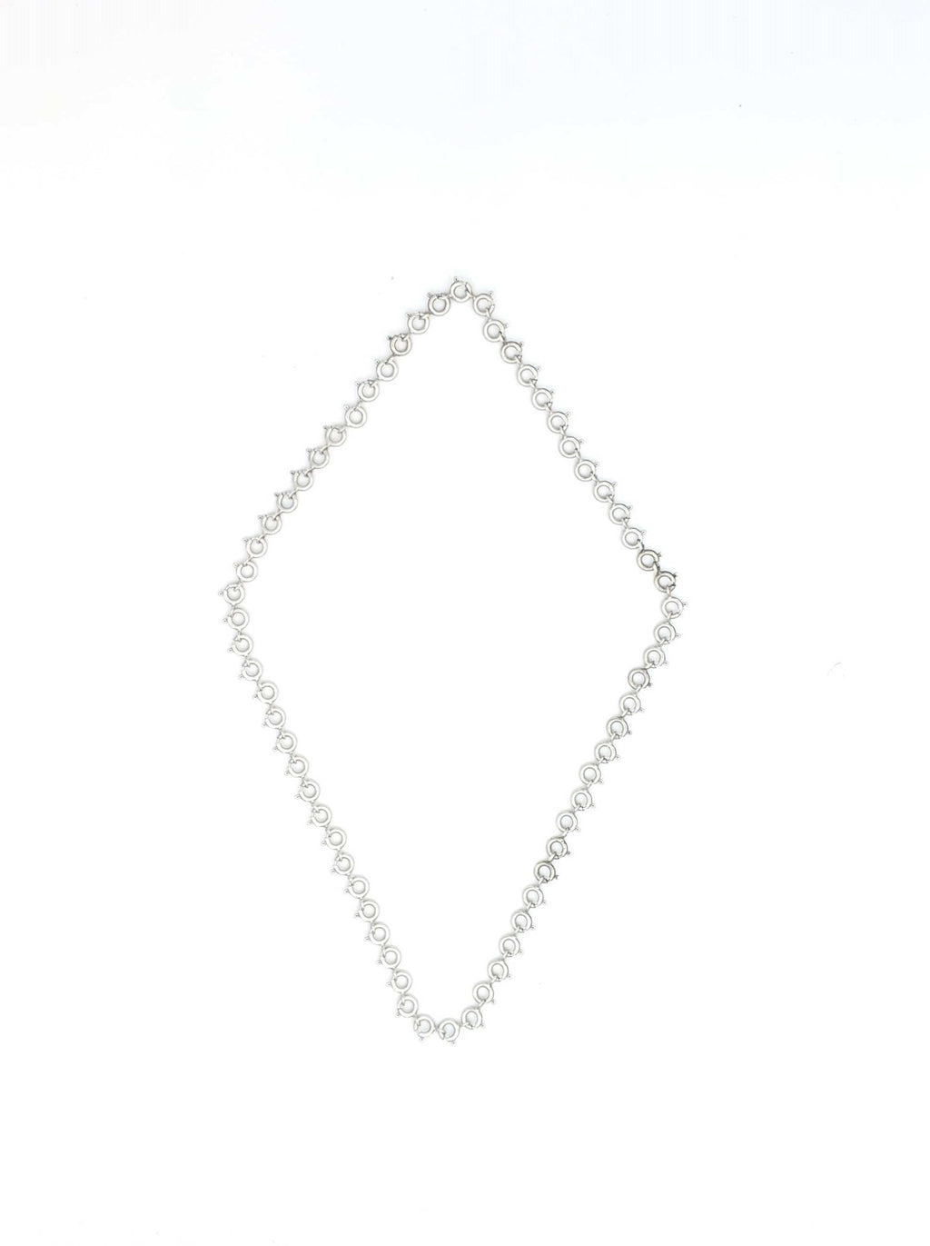 Sterling Silver Spring Clasp Necklace