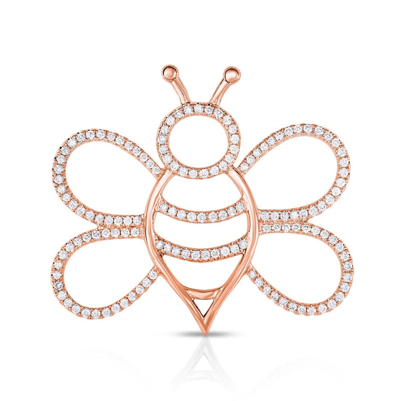 kosmos bee rose gold and diamond pendant