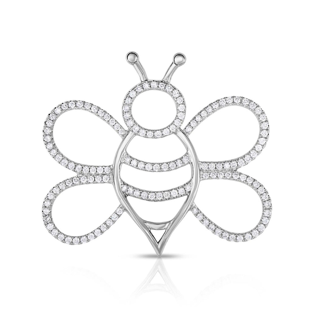 kosmos bee white gold and diamond pendant