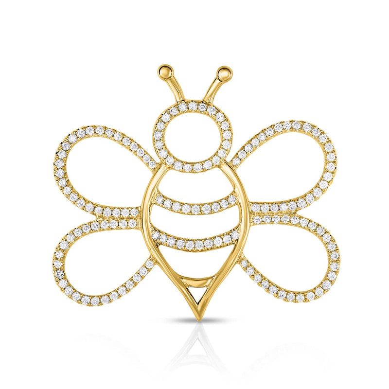 kosmos bee yellow gold and diamond pendant