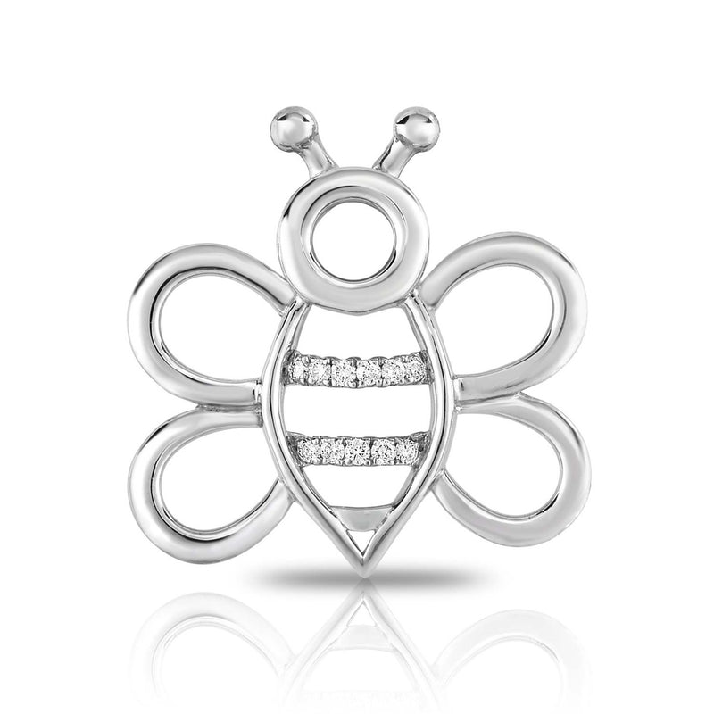 kosmos bee sterling silver and diamond pendant