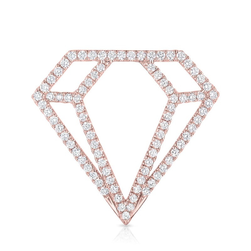 kosmos diamond profile rose gold and diamond pendant