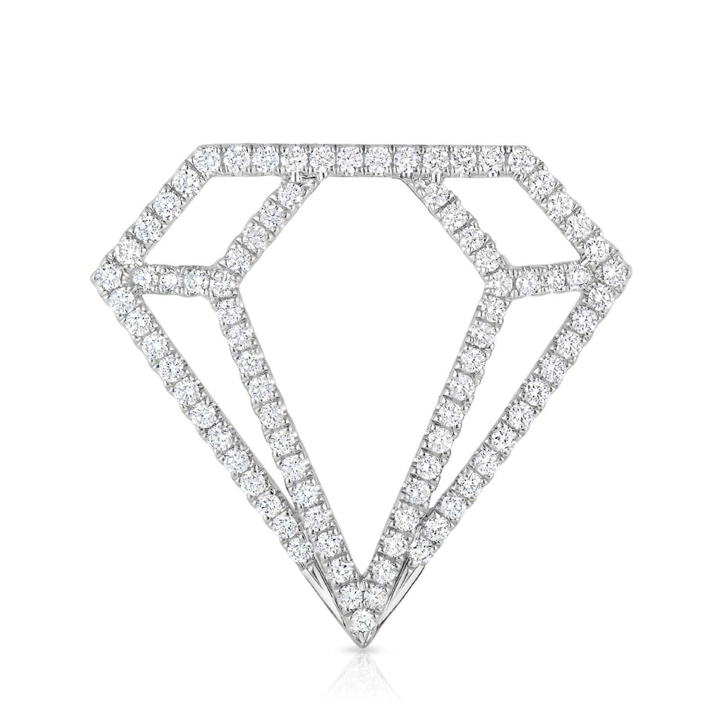 kosmos diamond profile white gold and diamond pendant