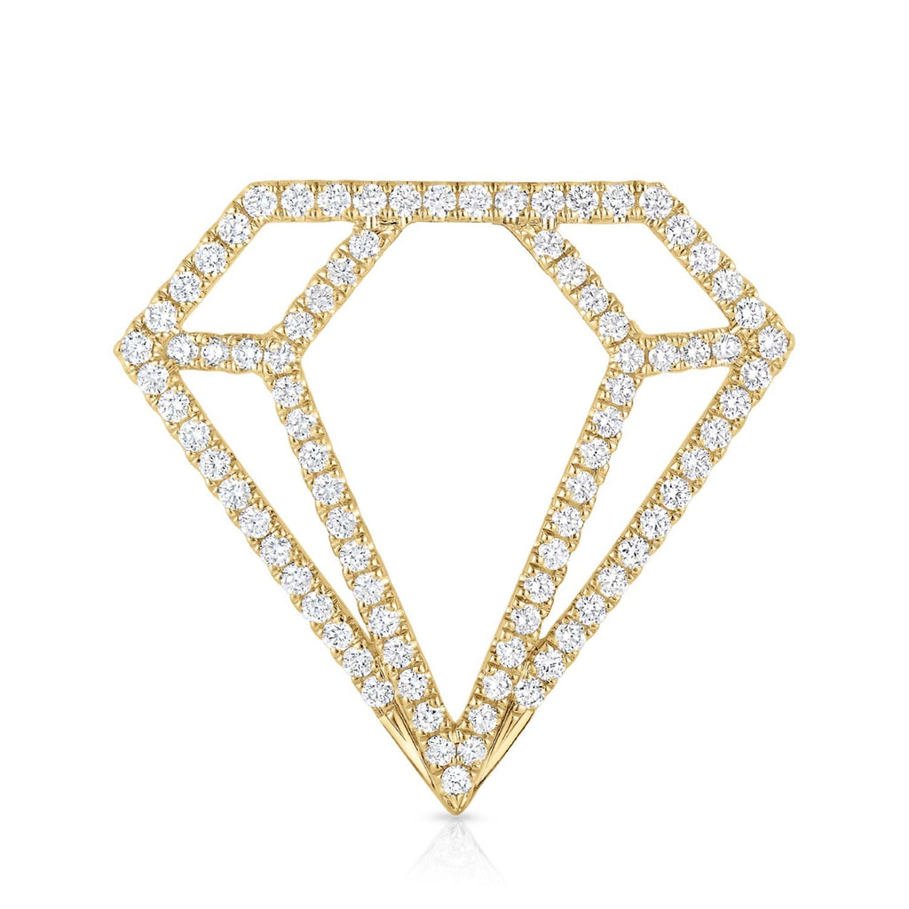 kosmos diamond profile yellow gold and diamond pendant