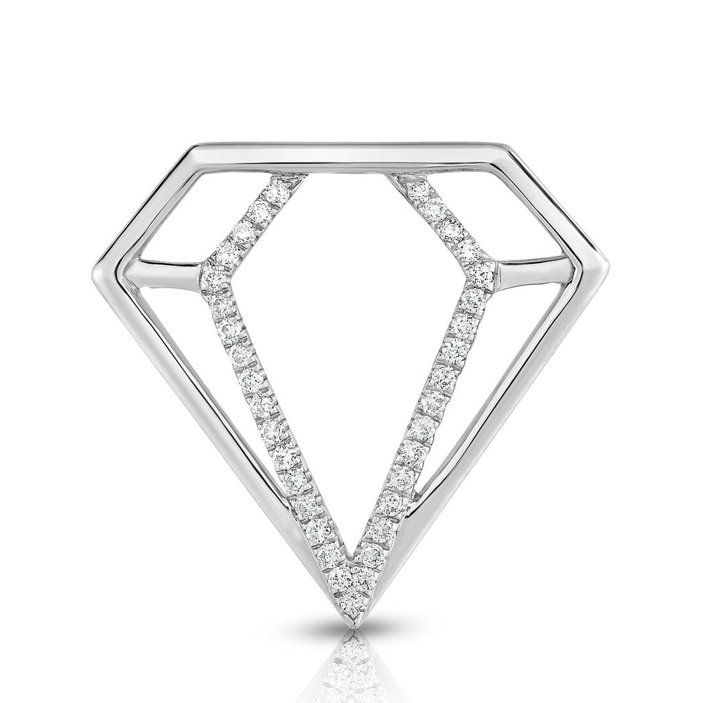 kosmos diamond profile sterling silver and diamond pendant