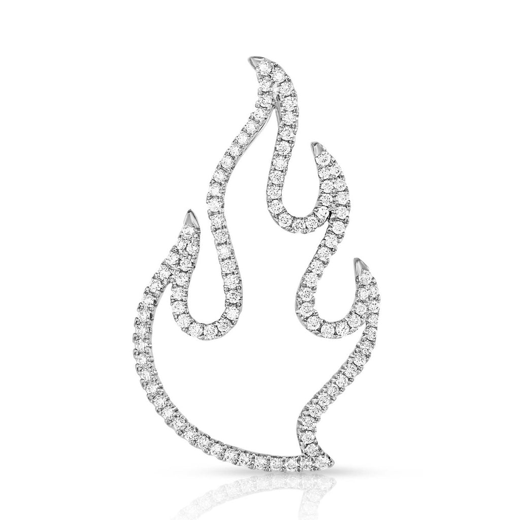 kosmos flame white gold and diamond pendant