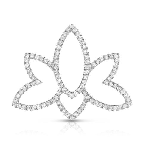 HAMSA - Silver | Diamond Accents