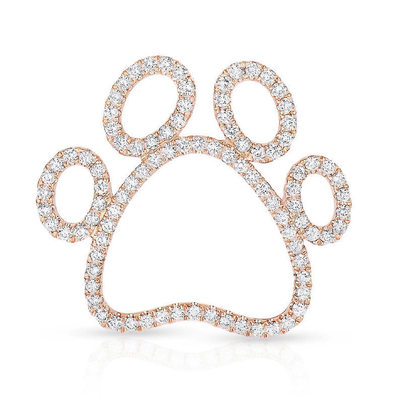 kosmos paw print 14k rose gold and diamond pendant