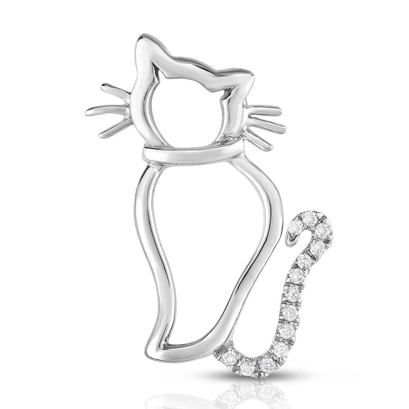 Sassy Cat - Silver | Diamond Accents
