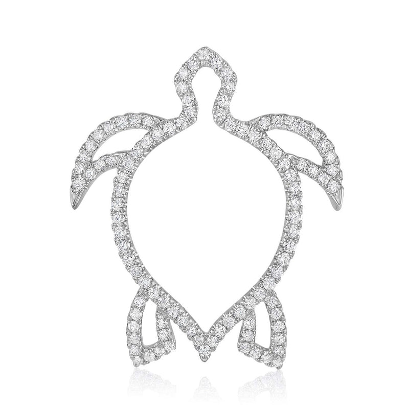 kosmos turtle white gold and diamond pendant