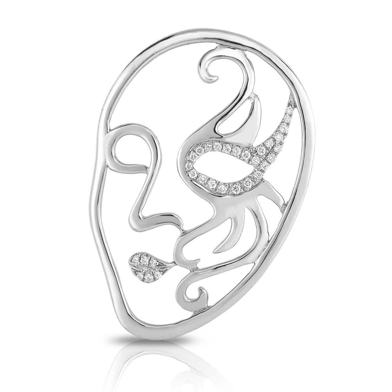 VENETIAN MASK - Silver | Diamond Accents
