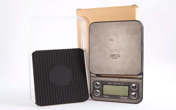 Cowpresso Coffee Scale with Timer - Singapore Cowpresso Coffee Roasters Specialty Coffee Bean Online Subscription Freshly Delivered