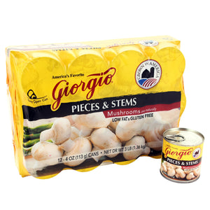 MUSHROOMS GIORGIO 12 UNITS X 4OZ LEB-SA-754493