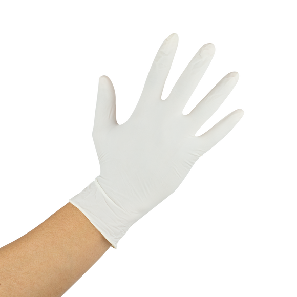 GLOVES LATEX M  OVI-LO-GL1017