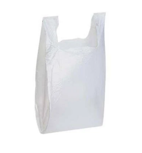 BAG T-SHIRT WHITE 15x17x26 KU-CP