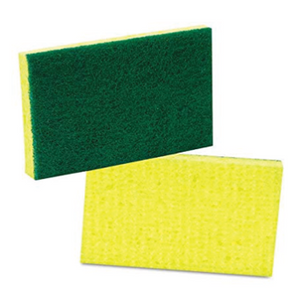 SCOURING PAD GREEN & YELLOW KUR-SA-744832 TX