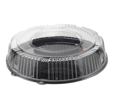 BASE BLACK WITH LID DOME CLEAR 16