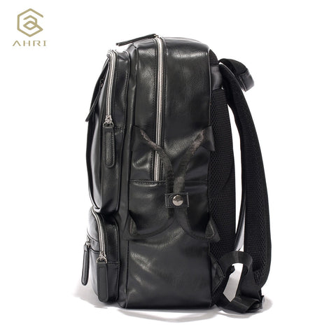 5f451d7a38a1 AHRI NEW 2017 Backpacks for men Bags PU Leather Men s Shoulder Bags Fashion  Men Business Casual