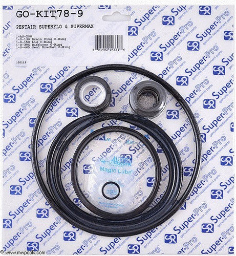 Pentair Superflo and Supermax,  Aladdin Go-Kit78 Repair O-Ring Kit Gasket