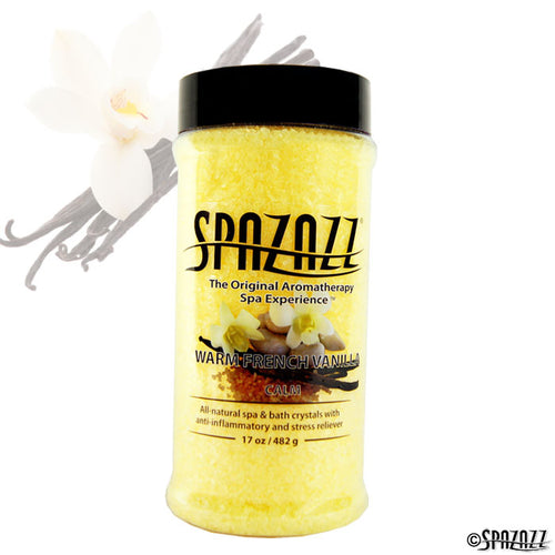 Spazazz Original Warm French Vanilla (Calm) Crystals 17oz Container