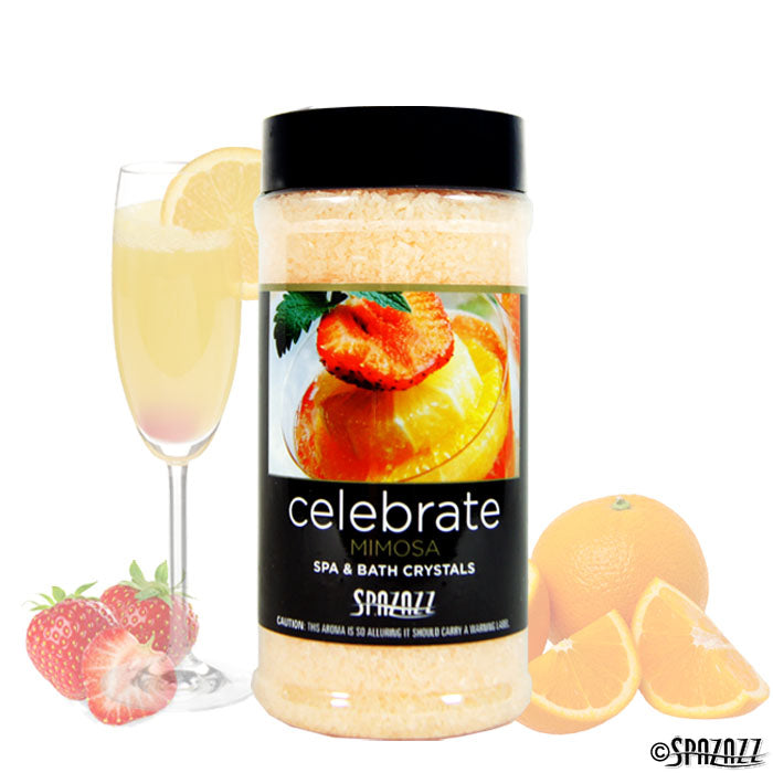 Spazazz Set the Mood Mimosa (Celebrate) Crystals 17oz Container