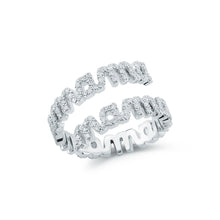 Tali Gillette Spiral Diamond Pave Mama Ring