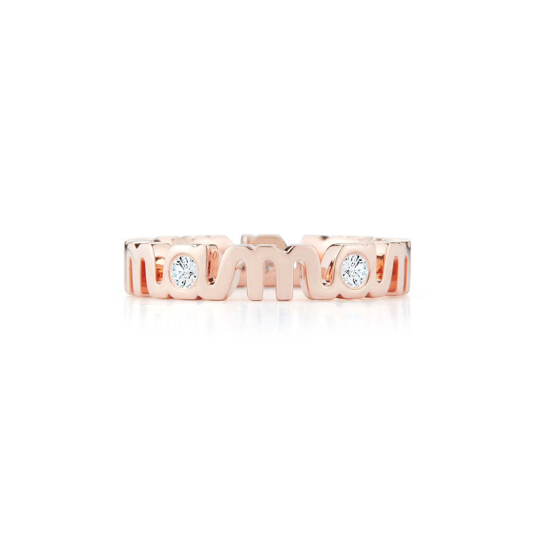 Tali Gillette Diamond A Mama Ring
