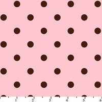 Anti Pill Dots Pink Chocolate Fleece 101