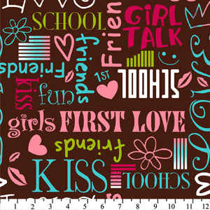 Premium Anti-Pill Girly Words Fleece 109