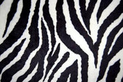 Zebra Minky Cuddle Fur BLACK WHITE