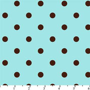 Anti Pill Dots Aqua Chocolate Fleece 117