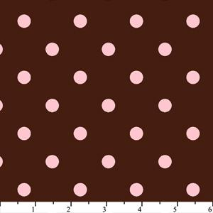Anti Pill Chocolate Pink Dots Fleece 137