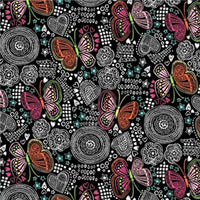 Premium Anti-Pill Butterfly Doodles Fleece 188