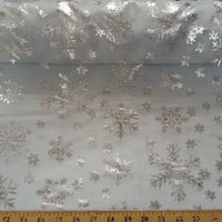 SWATCHES Snowflake Organza