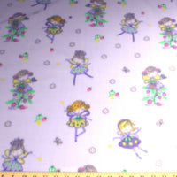 Premium Anti-Pill Ballerina Fairies Lavender Fleece 197