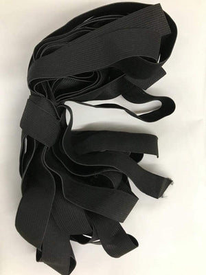 "1 Yard Bundle Black 3/4"" Elastic"