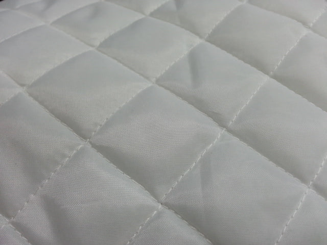 White 1-1/4 Quilted Poly Lining