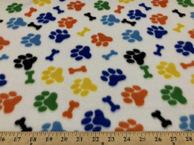 Paws Bones Rainbow Fleece 20B
