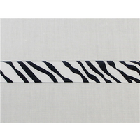 "Zebra Grosgrain Ribbon 7/8"" 1 1/2"""
