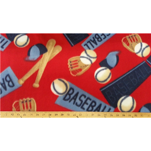 Baseball Red Fleece 227