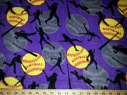 Anti-Pill Softball Purple Fleece 235